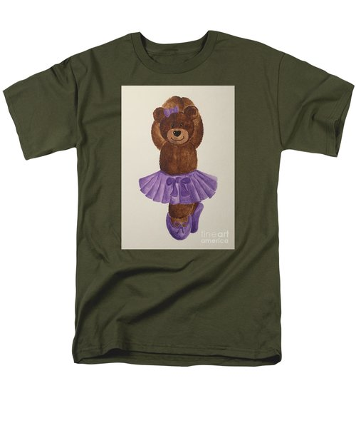 Men's T-Shirt  (Regular Fit) featuring the painting Leah's Ballerina Bear 3 by Tamir Barkan