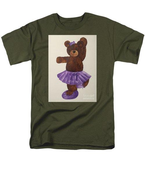 Men's T-Shirt  (Regular Fit) featuring the painting Leah's Ballerina Bear 4 by Tamir Barkan