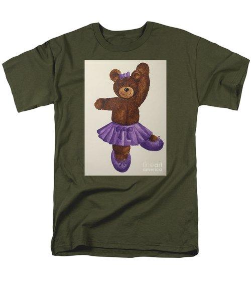 Men's T-Shirt  (Regular Fit) featuring the painting Leah's Ballerina Bear 5 by Tamir Barkan