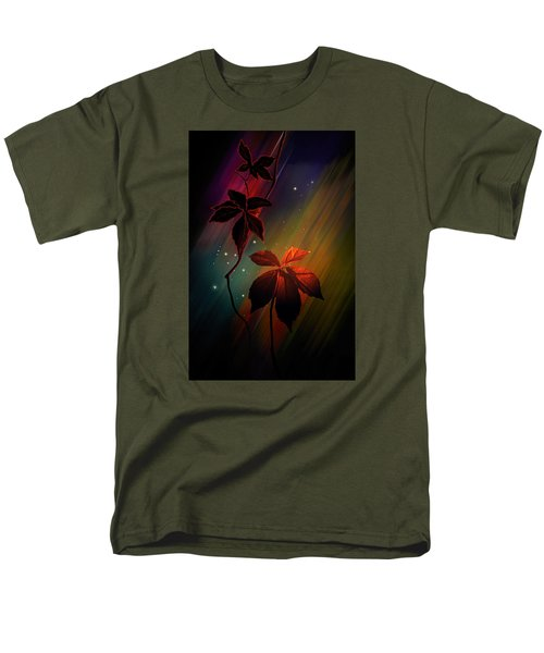 Men's T-Shirt  (Regular Fit) featuring the photograph Leaves Of Three by Judy  Johnson