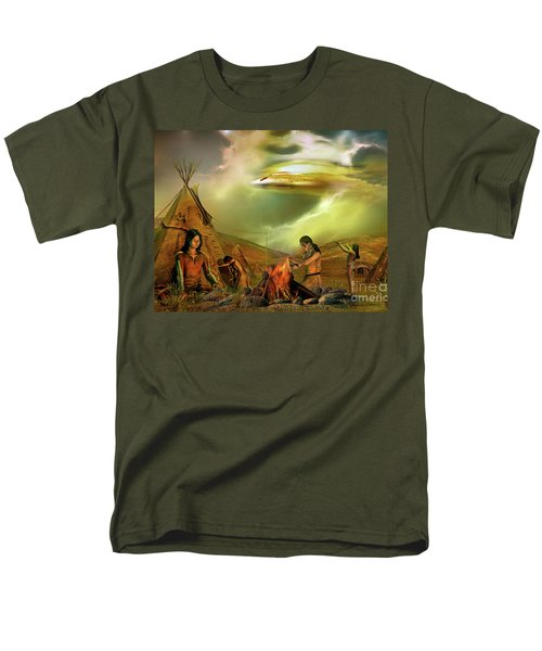 Legends Of The Sky People  Men's T-Shirt  (Regular Fit) by Shadowlea Is