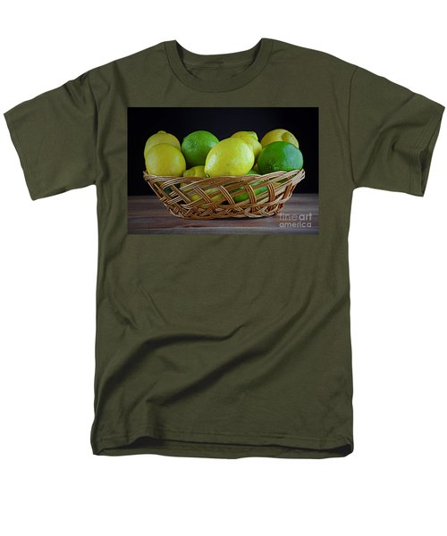 Lemon And Lime Basket Men's T-Shirt  (Regular Fit) by Ray Shrewsberry
