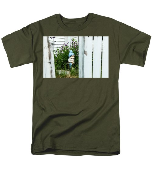 Leprechaun Munching Chives Men's T-Shirt  (Regular Fit) by Daniel Hebard