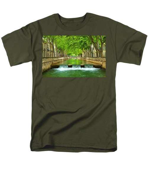 Les Quais De La Fontaine Nimes Men's T-Shirt  (Regular Fit) by Scott Carruthers