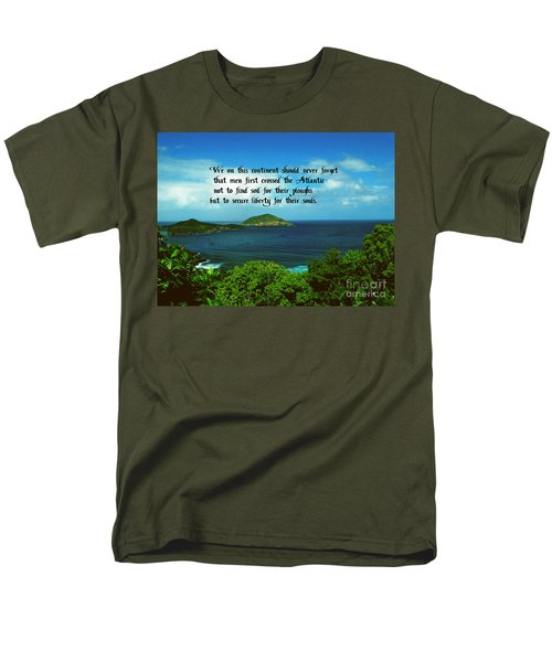 Men's T-Shirt  (Regular Fit) featuring the photograph Liberty by Gary Wonning