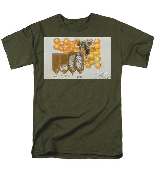 Life Cycle Of A Bee  Men's T-Shirt  (Regular Fit) by Francine Heykoop