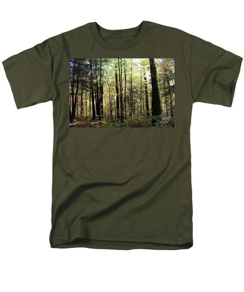 Men's T-Shirt  (Regular Fit) featuring the photograph Light Among The Trees by Felipe Adan Lerma