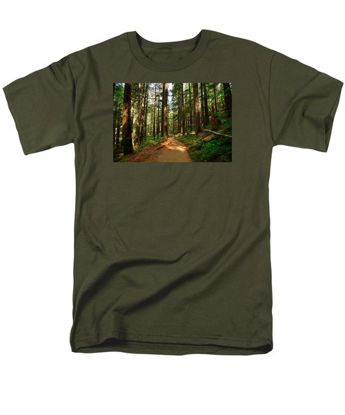 Men's T-Shirt  (Regular Fit) featuring the photograph Light In The Forest by Lynn Hopwood