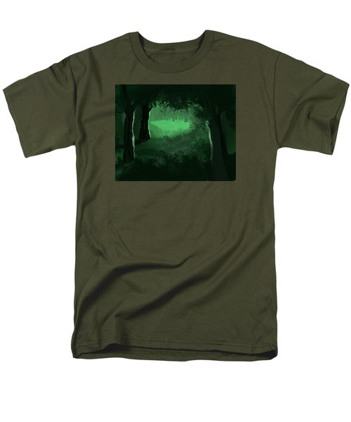 Light In The Forest Men's T-Shirt  (Regular Fit) by Walter Chamberlain