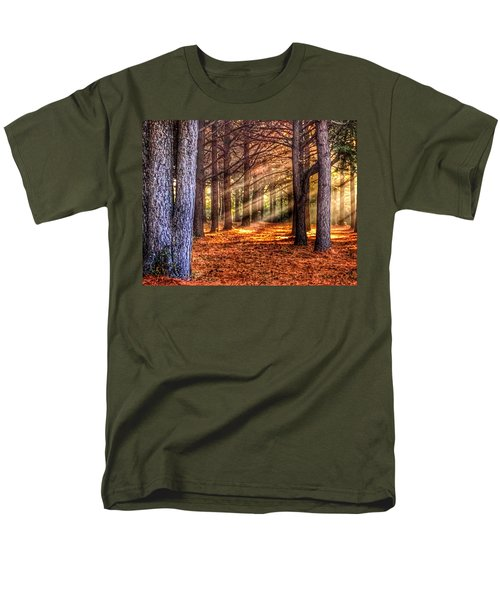 Men's T-Shirt  (Regular Fit) featuring the photograph Light Thru The Trees by Sumoflam Photography