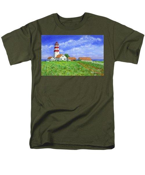 Lighthouse Pasture Men's T-Shirt  (Regular Fit) by Val Miller
