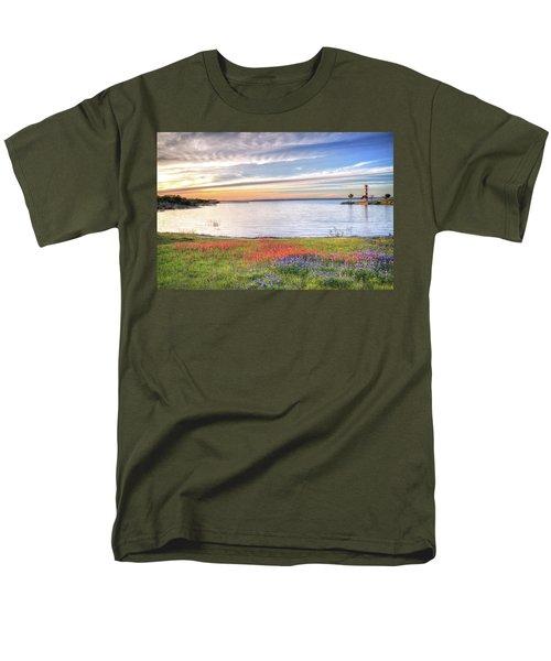 Lighthouse Sunset At Lake Buchanan Men's T-Shirt  (Regular Fit) by Lynn Bauer