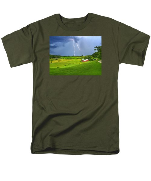Lightning Storm Over Jenne Farm Men's T-Shirt  (Regular Fit) by John Vose