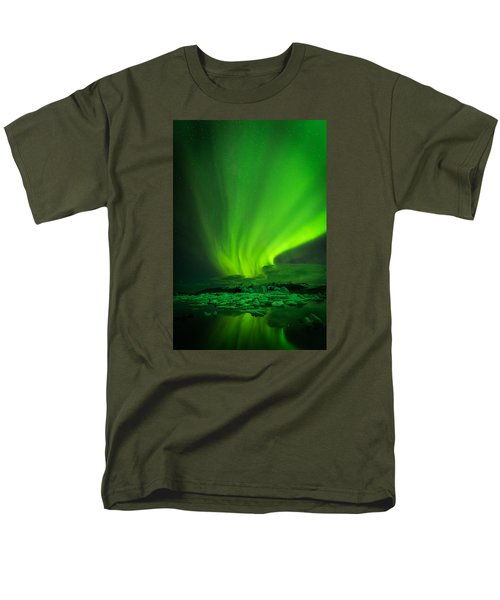 Lights Over Jokulsarlon Men's T-Shirt  (Regular Fit) by Chris McKenna