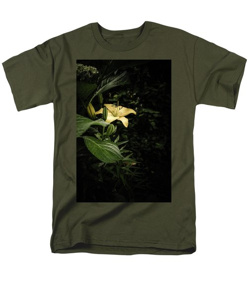 Men's T-Shirt  (Regular Fit) featuring the photograph Lily In The Garden Of Shadows by Marco Oliveira