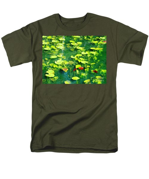 Men's T-Shirt  (Regular Fit) featuring the photograph Lily Pads by Melissa Stoudt
