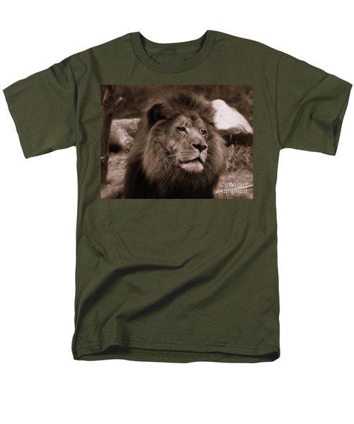 Men's T-Shirt  (Regular Fit) featuring the photograph Lion King by Lisa L Silva