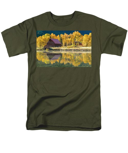Little Barn By The Lake Men's T-Shirt  (Regular Fit) by Teri Virbickis