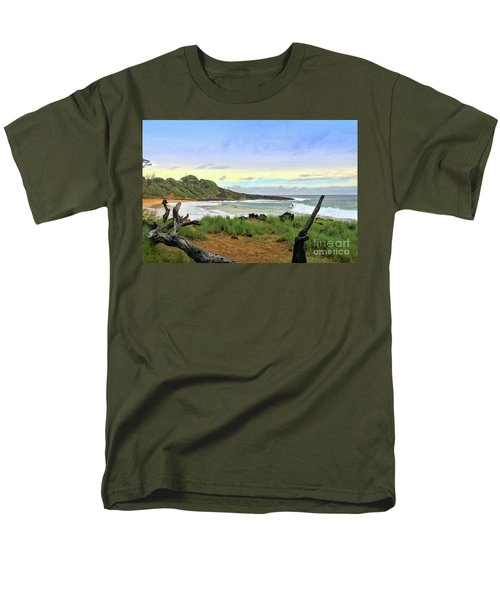 Men's T-Shirt  (Regular Fit) featuring the photograph Little Beach by DJ Florek