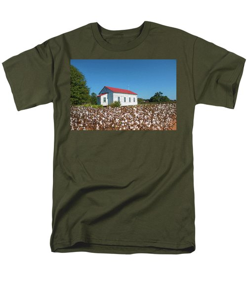 Men's T-Shirt  (Regular Fit) featuring the photograph Little Church In The Cotton Field by Bonnie Barry
