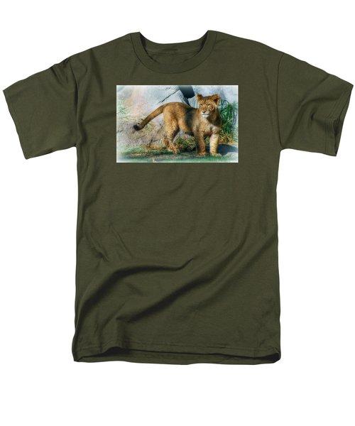 Men's T-Shirt  (Regular Fit) featuring the photograph Little Cub by Elaine Malott