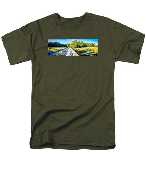 Little River Marsh Men's T-Shirt  (Regular Fit) by David Smith
