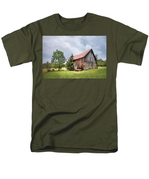 Men's T-Shirt  (Regular Fit) featuring the photograph Little Rustic Barn, Adirondacks by Gary Heller