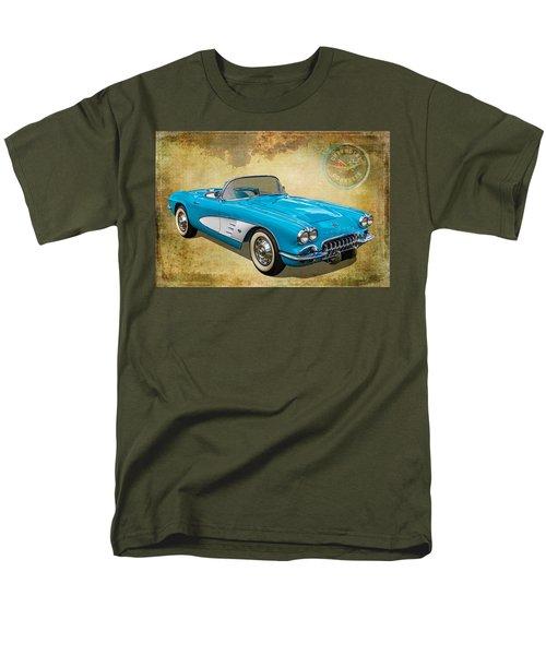 Little Vette Men's T-Shirt  (Regular Fit) by Keith Hawley