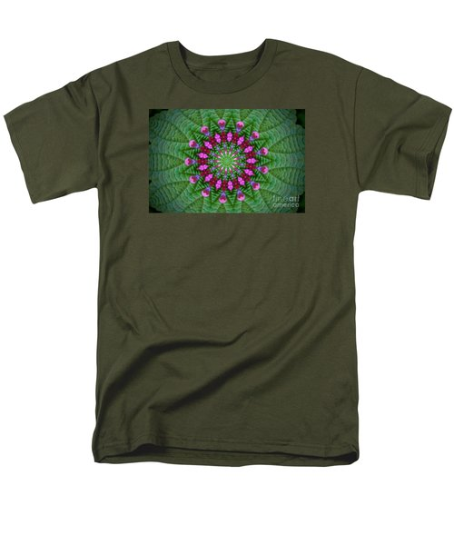 Little Weed Kaliedoscope Men's T-Shirt  (Regular Fit) by Shirley Moravec