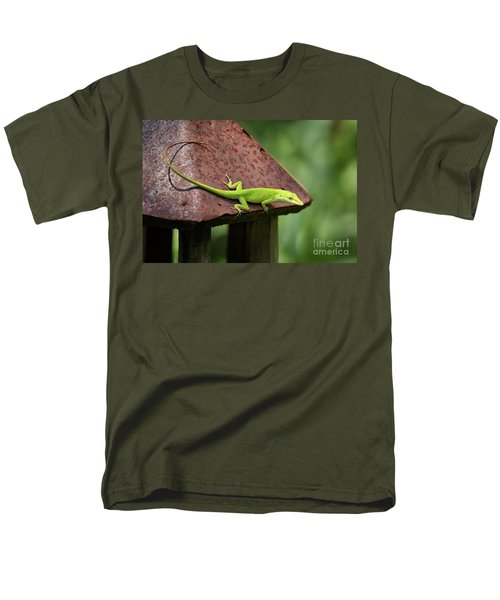 Lizard On Lantern Men's T-Shirt  (Regular Fit) by Stephanie Hayes