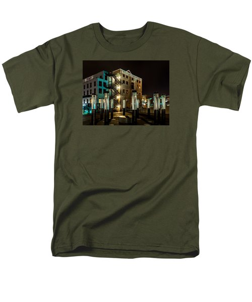 Lofts Overlooking Water Forest Men's T-Shirt  (Regular Fit) by Rob Green