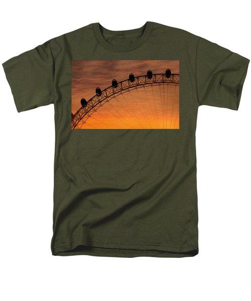 London Eye Sunset Men's T-Shirt  (Regular Fit)