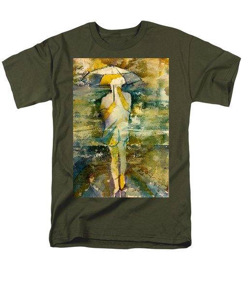 London Rain Theme Men's T-Shirt  (Regular Fit) by Debbie Lewis