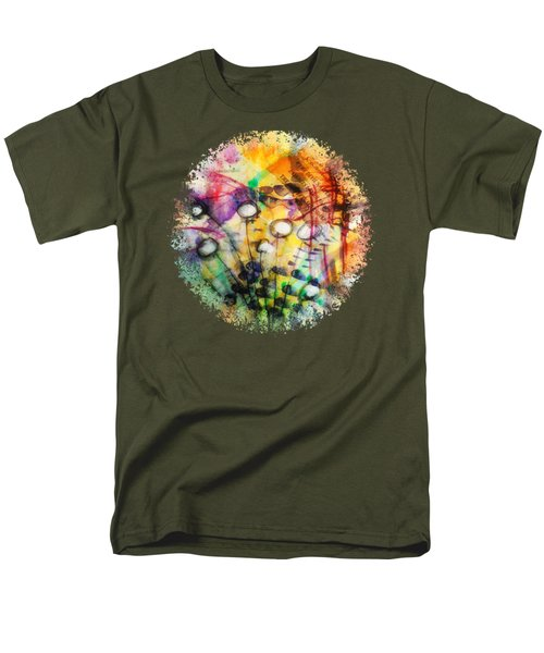 Men's T-Shirt  (Regular Fit) featuring the mixed media Look Around by Mimulux patricia no No