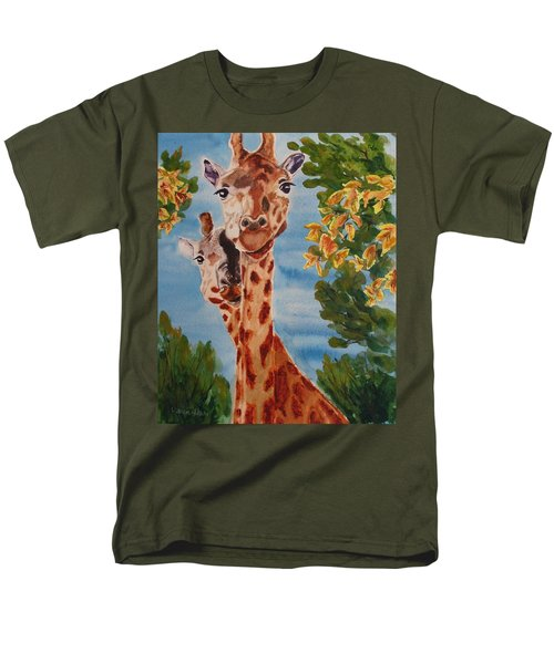 Men's T-Shirt  (Regular Fit) featuring the painting Lookin Back by Karen Ilari