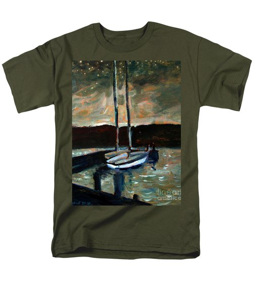 Looking Across Upper Lake Camp Wayne Men's T-Shirt  (Regular Fit) by Charlie Spear