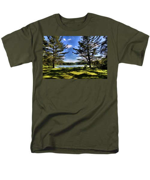 Looking At The Moose River Men's T-Shirt  (Regular Fit) by David Patterson