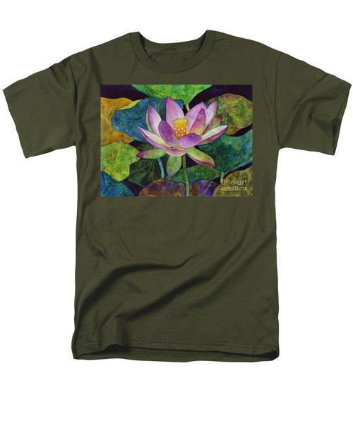 Lotus Bloom Men's T-Shirt  (Regular Fit) by Hailey E Herrera