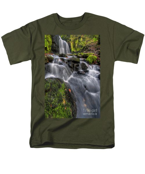 Men's T-Shirt  (Regular Fit) featuring the photograph Lumsdale Falls 5.0 by Yhun Suarez