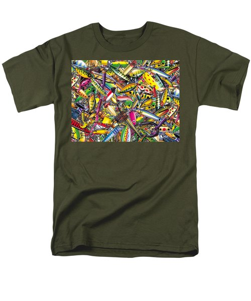 Men's T-Shirt  (Regular Fit) featuring the painting Lure Collage by Jon Q Wright