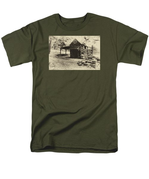 Men's T-Shirt  (Regular Fit) featuring the photograph Luxenhaus Cow Barn by William Fields