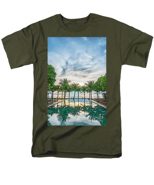 Men's T-Shirt  (Regular Fit) featuring the photograph Luxury Pool In Paradise by Antony McAulay