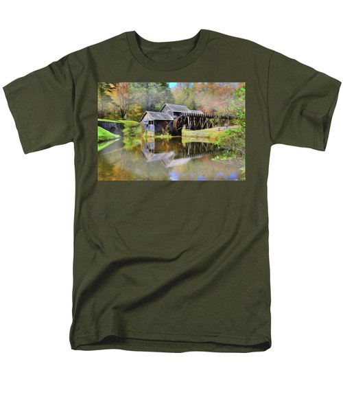 Mabry Grist Mill Men's T-Shirt  (Regular Fit) by Sharon Batdorf