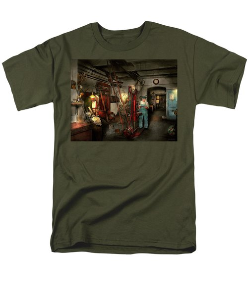 Men's T-Shirt  (Regular Fit) featuring the photograph Machinist - Government Approved 1919 by Mike Savad