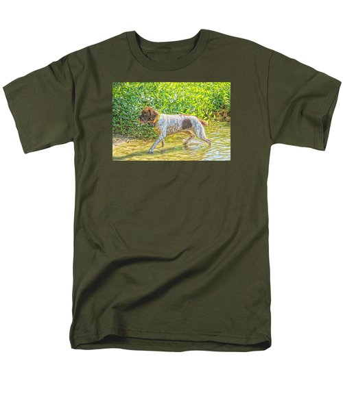 Men's T-Shirt  (Regular Fit) featuring the photograph Maggie Stride Photo Art by Constantine Gregory