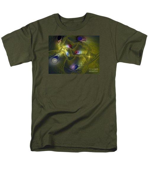 Men's T-Shirt  (Regular Fit) featuring the digital art Magic Carpet by Karin Kuhlmann