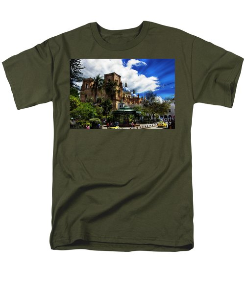 Men's T-Shirt  (Regular Fit) featuring the photograph Magnificent Center Of Cuenca, Ecuador IIi by Al Bourassa