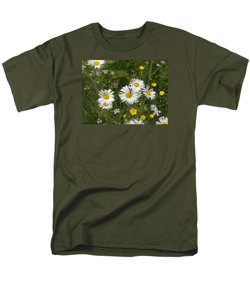 Men's T-Shirt  (Regular Fit) featuring the photograph Maine Flowers by Helen Haw