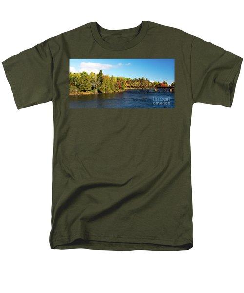 Maine Rail Line Men's T-Shirt  (Regular Fit) by Sandy Molinaro