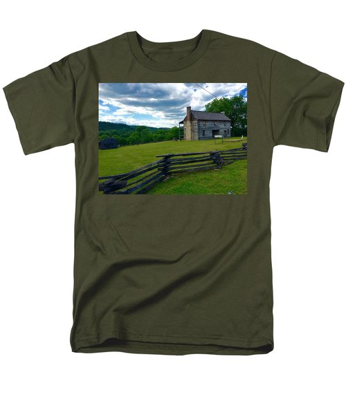 Majestic Wolf House Stands  Men's T-Shirt  (Regular Fit)